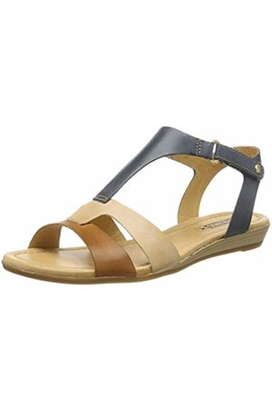 Pikolinos Leather Flat Sandals Alcudia 816