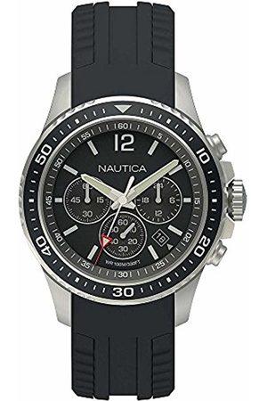 Nautica Mens Chronograph Quartz Watch with Silicone Strap NAPFRB010