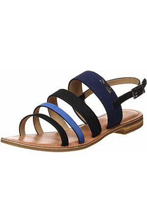 Les Tropéziennes par M Belarbi Women Sandals - Women's's Harica Sling Back Sandals (Noir/Bleu 576) 6.5 UK