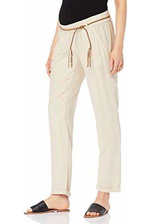 Mama Licious Women's Mlbeach Belt Woven Pant Maternity Trousers, Sandshell