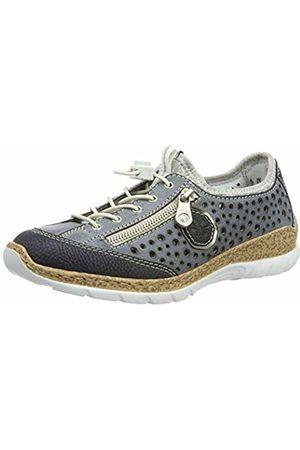 Rieker Women's N42p6-14 Low-Top Sneakers (Pazifik/Atlantic/Altsilber/Silverflower 14) 7.5 UK