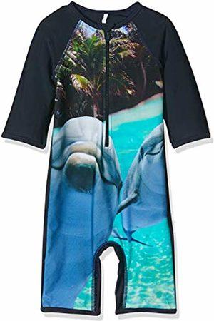 Name it Baby Boys' Nmmzalta Uv Swimsuit Swimming Costume, Dark Sapphire