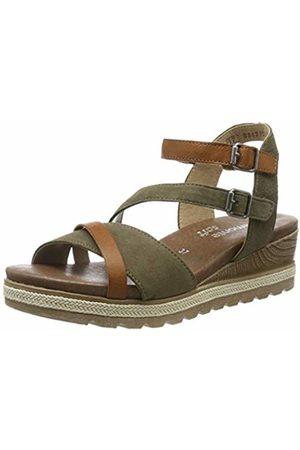 Remonte Women's D6356 Sling Back Sandals (Cayenne/Olive 54) 6.5 UK
