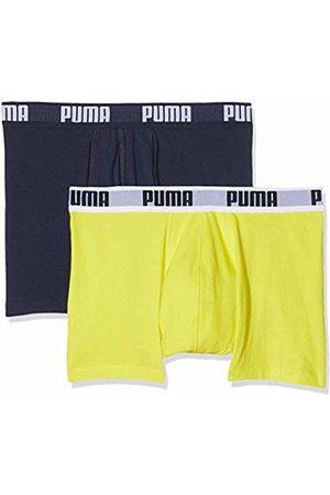 Puma Men's Basic Boxer 2p Boy Short ( /Navy 926) X-Large Pack of 2