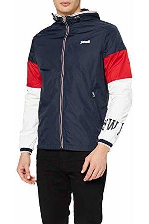 Schott NYC Men's's Erwind3 Jacket, Navy/ /Offwhite