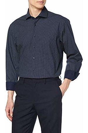 Seidensticker Men's Comfort Langarm Mit Kent Kragen Soft Gepunktet Formal Shirt