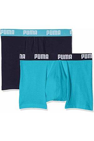 Puma Men's's Basic Boxer 2p Boy Short (Aqua/ 796) XX-Large Pack of 2