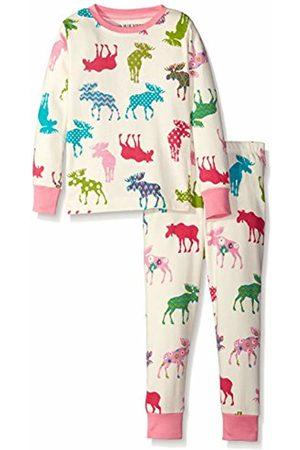 Hatley Little Blue House Girl's Patterned Moose Pyjama Set