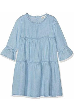 Name it Girls' NMFDINA LS Dress Blau Bonnet