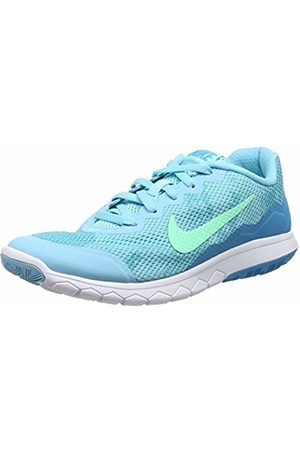 Nike Women's Flex Experience Run 4 Premium Low-Top Slippers, Td Pl Grn GLW-Bl Lgn-Blanc