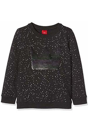 s.Oliver Girl's 53.811.41.4035 Sweatshirt, (Dark AOP 59a0)