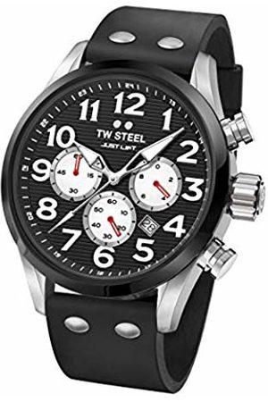 TW Steel Unisex Adult Chronograph Quartz Watch with Silicone Strap TW985