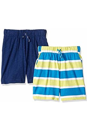 Spotted Zebra 2-Pack Jersey Knit Shorts Stripe/Navy