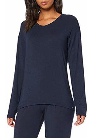 Schiesser Women's Mix & Relax Shirt 1/1 Arm Pyjama Top (Nachtblau 804) 18 (Size: 044)