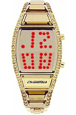 ChronoTech Womens Digital Watch with Stainless Steel Strap CT7122LS-09M
