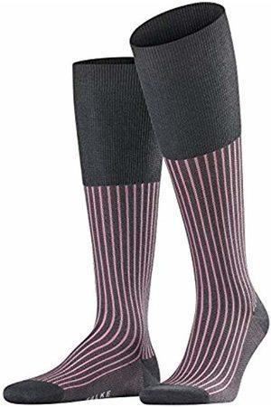 Falke Oxford Stripe Men Knee-high Socks anthracite mel. (3095) 43-44