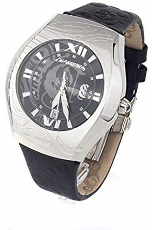 Chronotech Mens Analogue Quartz Watch with Leather Strap CT7694M-01