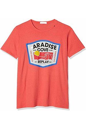 Replay Men's M3762 .000.22662g T-Shirt, (Coral 753)