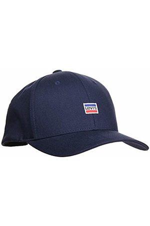 Levi's Men's Mini Sportwear Logo Flexfit Flat Cap, (Navy 17)