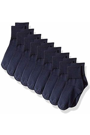 Amazon 9-Pack Cotton Uniform Turn Cuff Sock Casual