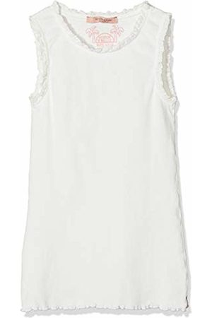 Scotch&Soda R´Belle Girl's Basic Rib Tank Top with Lace Details at Armhole and Neckline Vest, ( 001)