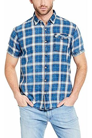 Pioneer Men's Shirt Ss Check Casual Shirt