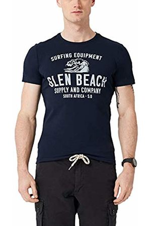s.Oliver Men's 13.904.32.4791 T-Shirt (Classic Navy 5877) Medium