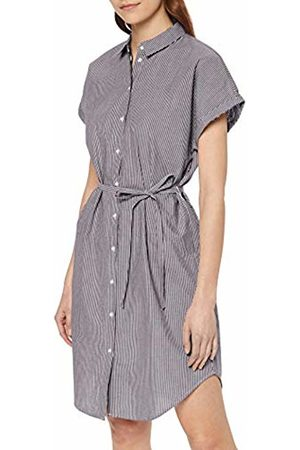 Vero Moda Women's Vmjane Sl Abk Shirt Dress WVN Ki (Snow Stripes: Night Sky)