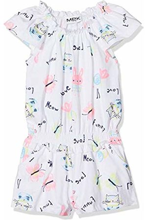 MEK Baby Girls Tutina Jersey Fantasia Romper, (Optical 01 001)