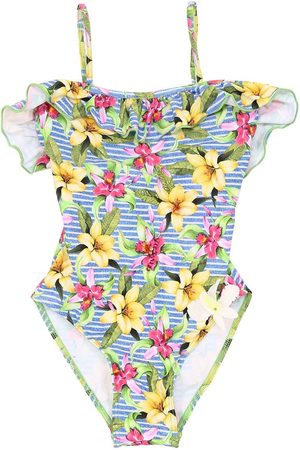 SELINI Floral Print Lycra One Piece Swimsuit