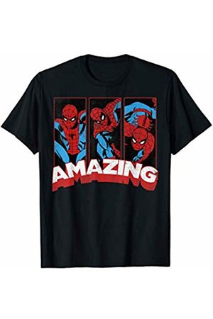 Marvel Spider Man Amazing Comic Poses Graphic T-Shirt
