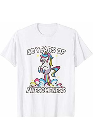 40th Birthday T Shirt Funny Unicorn Gifts 40 Year Old Women
