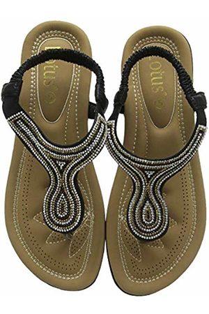 Lotus Women's Delia Open Toe Sandals BBK