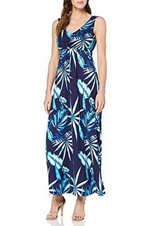 Joe Browns Women's Bright Vibrant Jersey Maxi Dress Blues (Size:UK 18)