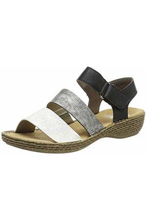 Rieker Women's 658l8-80 Closed Toe Sandals 8 UK