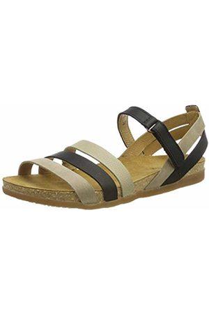 El Naturalista Women's N5244 Multi Leather Noir Mixed/Zumaia Open Toe Sandals