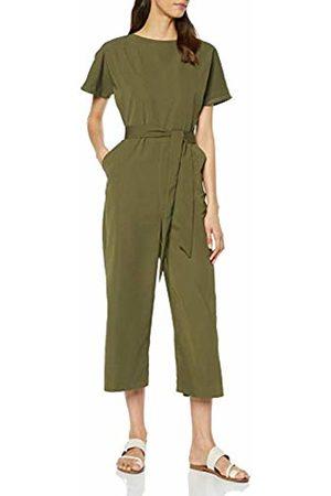 warehouse Women's Slash Neck Jumpsuit
