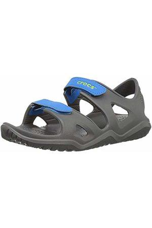 Crocs Sandals - Unisex Kids' Swiftwater River Sandal K Open Toe (Slate /Ocean 01o)