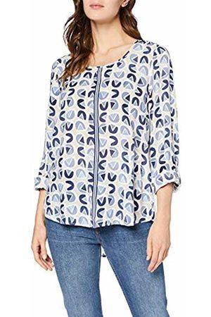 GINA LAURA Women's Bluse Mit Grafikdruck, Zierband Blouse, ( 74)
