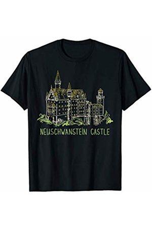 DDD City Men T-shirts - Neuschwanstein Castle T-shirt Tee T Shirt Tshirt T-Shirt