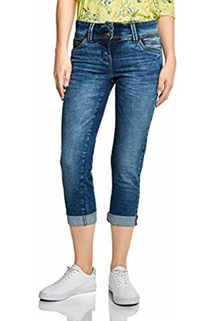 Cecil Women's 372083 Slim Jeans, (Authentic Used Wash Mid 10275)