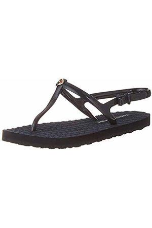 Tommy Hilfiger Women's Flat Strappy Beach Sandal Flip Flops (Midnight 403) 6 UK