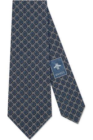 Gucci Men Ties - GG and rhombus motif silk tie