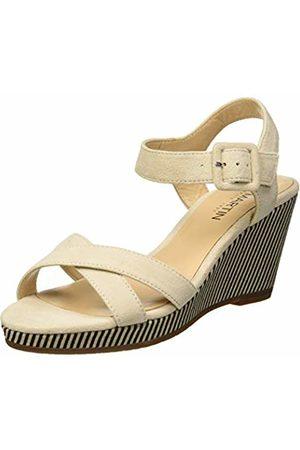 JB Martin Women's Querida E19 Sandals, (Ch Velours Toile Noir Sable)