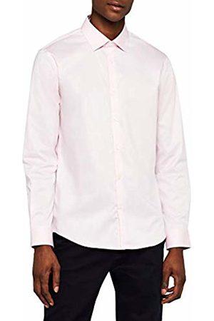 MERAKI Men's Regular Fit Fine Twill Formal Shirt, (Pale )