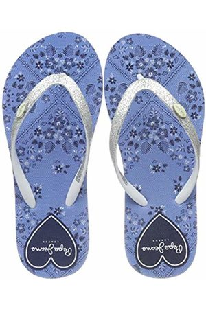 Pepe Jeans Girls' Beach Bandana Flip Flops Blau (532soho 532) 4 UK