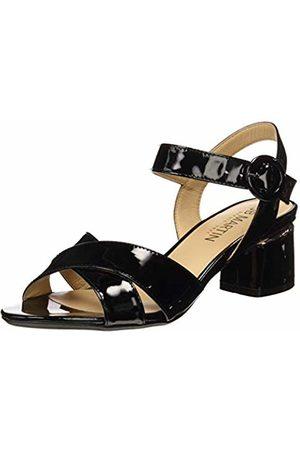 JB Martin Women's Mabel Ankle Strap Sandals (Veau Vernis Noir) 7.5 UK