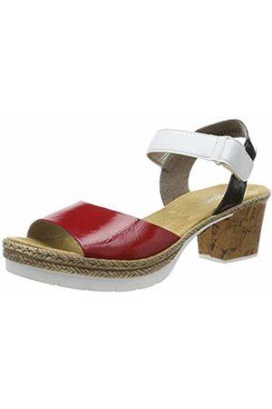 Rieker Women's V2953-33 Platform Sandals (Rosso/Weiss/Marine 33) 6 UK