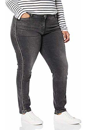 Ulla Popken Women's Plus Size Side Seam Accent Stretch Jeans 22 717756 12-48