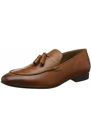 Hudson H Men's Bolton Leather Loafers (Tan 24) 11 (45 EU)